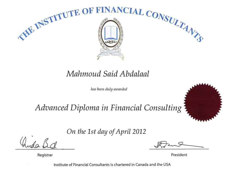 sertifikat konsultan keuangan