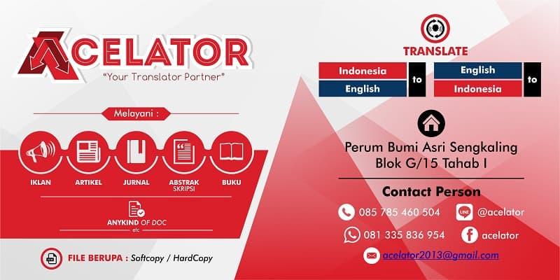 Acelator – Malang Translator Partner